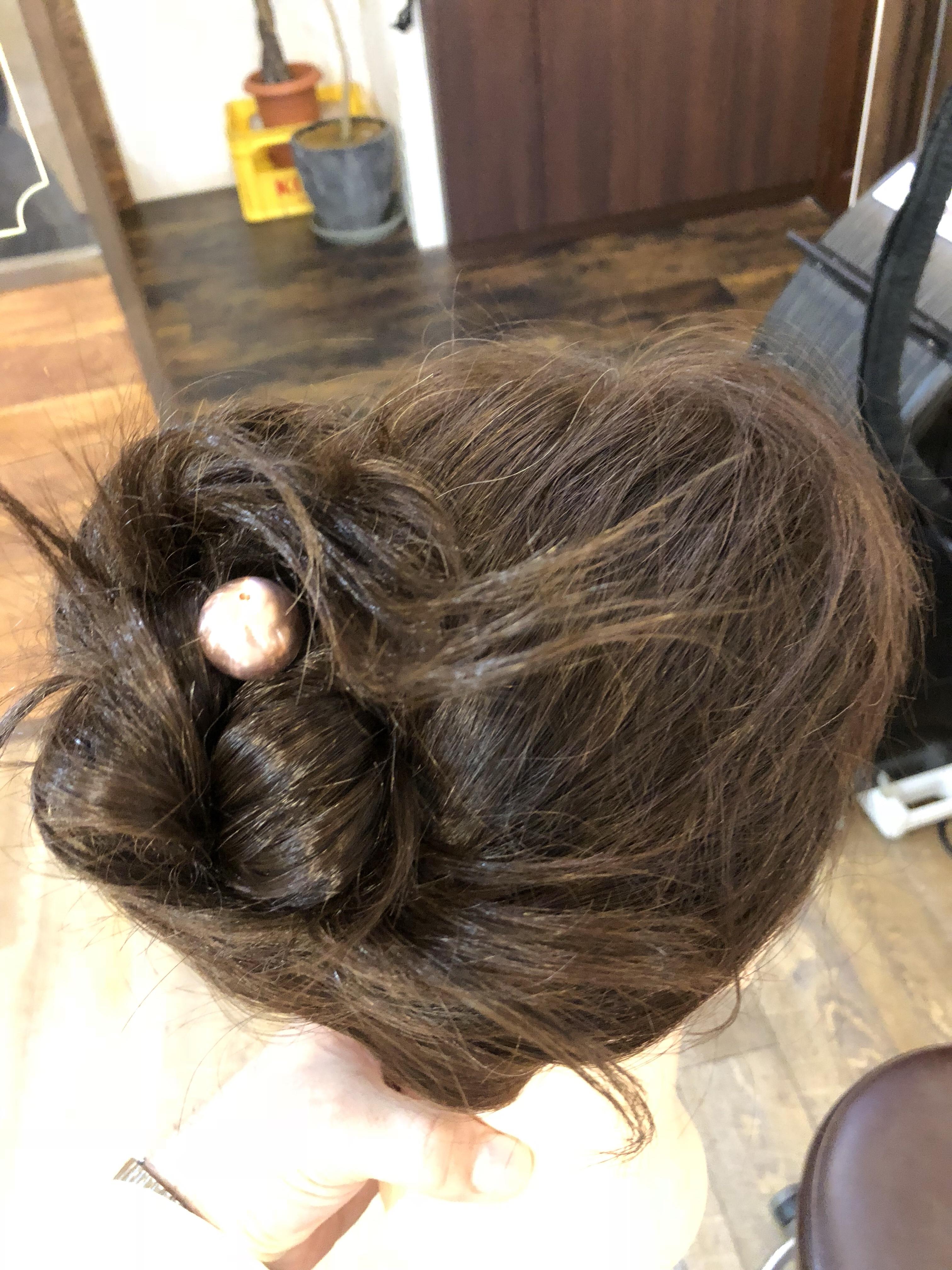 玉飾り 真鍮 かんざしヘアセット
